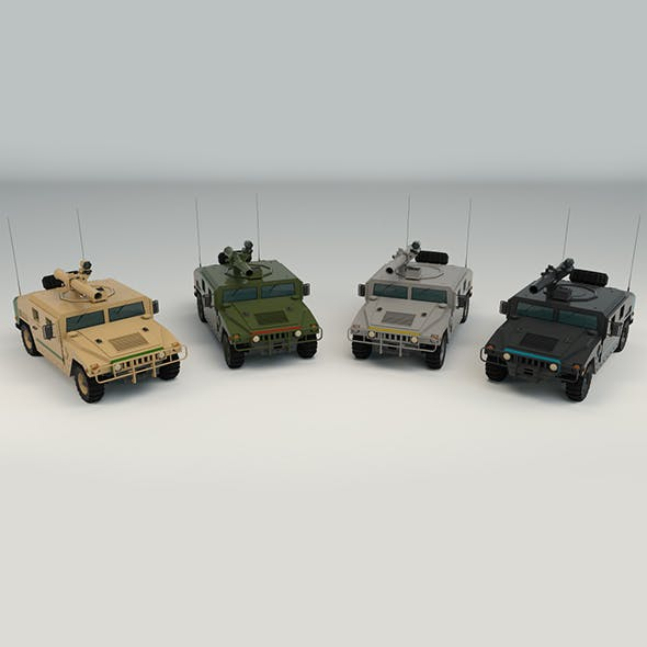 Low Poly Military 4x4 03