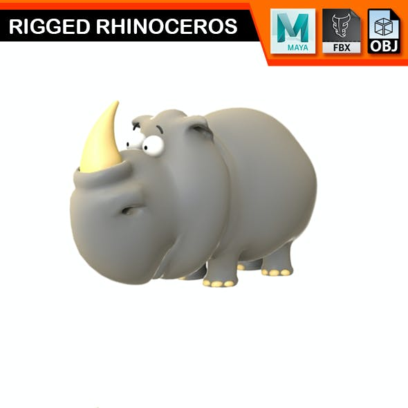 Rigged Rhinoceros Model