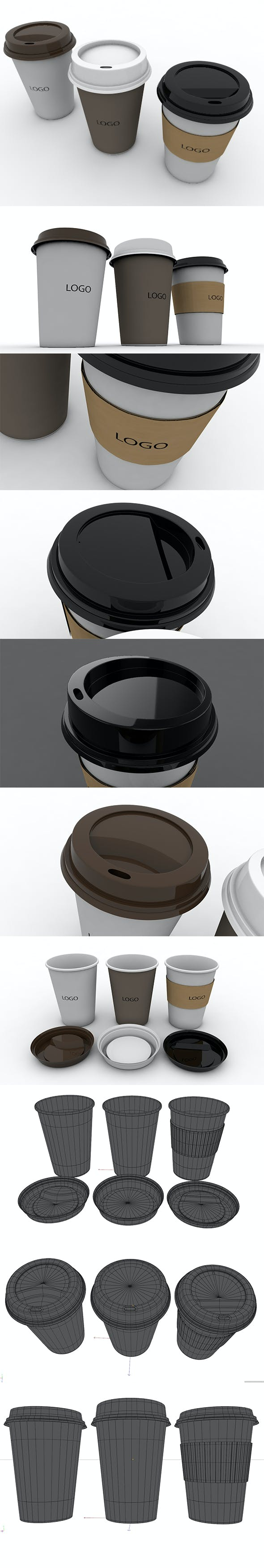 3D-Paper-Coffee-Cup - 3DOcean Item for Sale