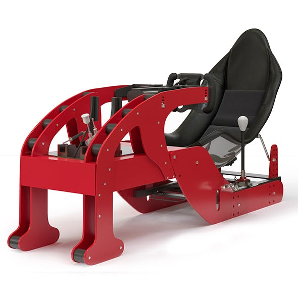 Racing game simulator chair EVOLUTION F1 - 3DOcean Item for Sale