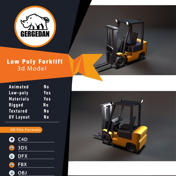 Low Poly Forklift