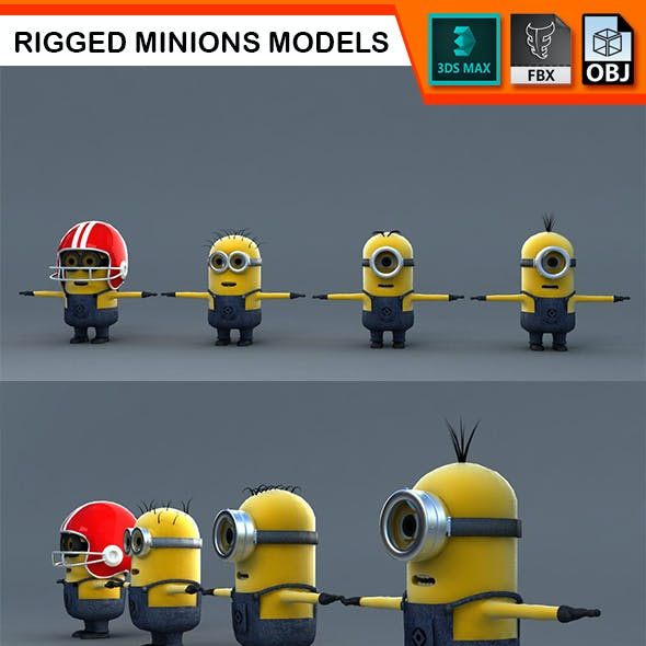 Minions Models Rigged with Biped
