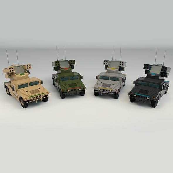 Low Poly Military 4x4 04
