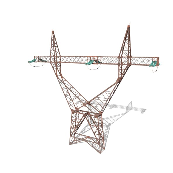 Electricity Pole 4 Weathered - 3DOcean Item for Sale