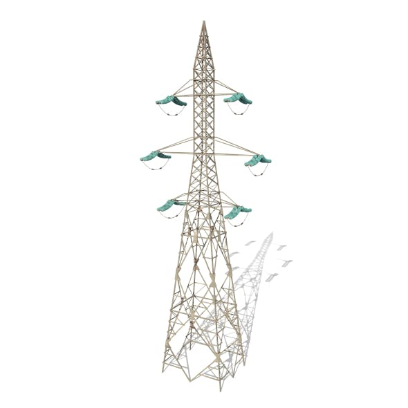 Electricity Pole 7 - 3DOcean Item for Sale