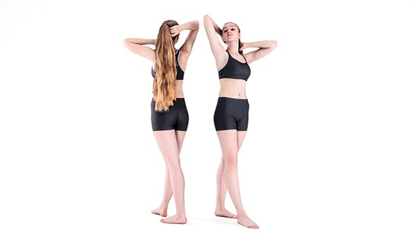 Sporty woman with long hair posing 49 - 3DOcean Item for Sale