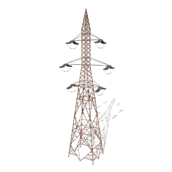 Electricity Pole 7 Weathered - 3DOcean Item for Sale
