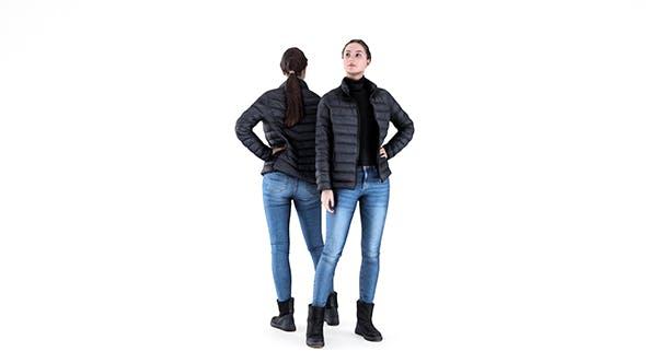 Pretty woman in down jacket 50 - 3DOcean Item for Sale