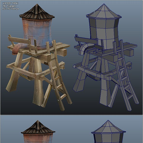 Low Poly Water Tank
