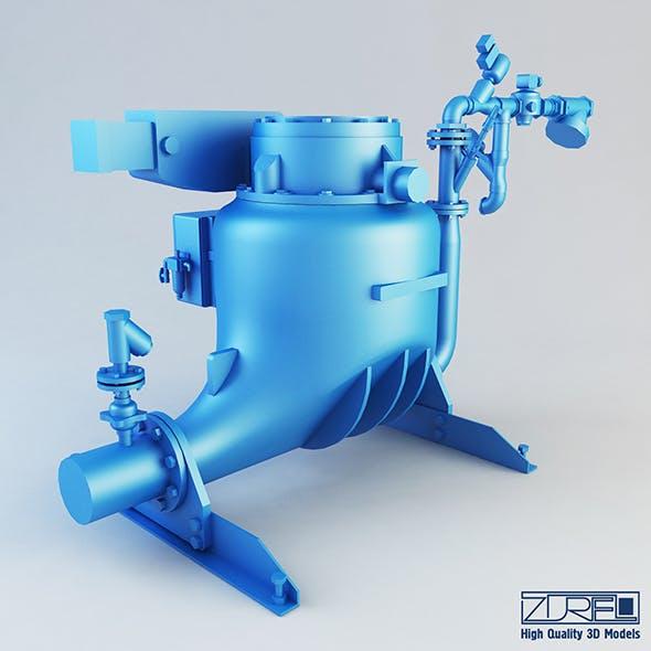 Ash vessel PN pump
