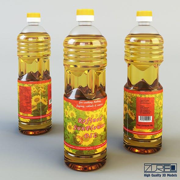 Oil bottle 1 liter - 3DOcean Item for Sale