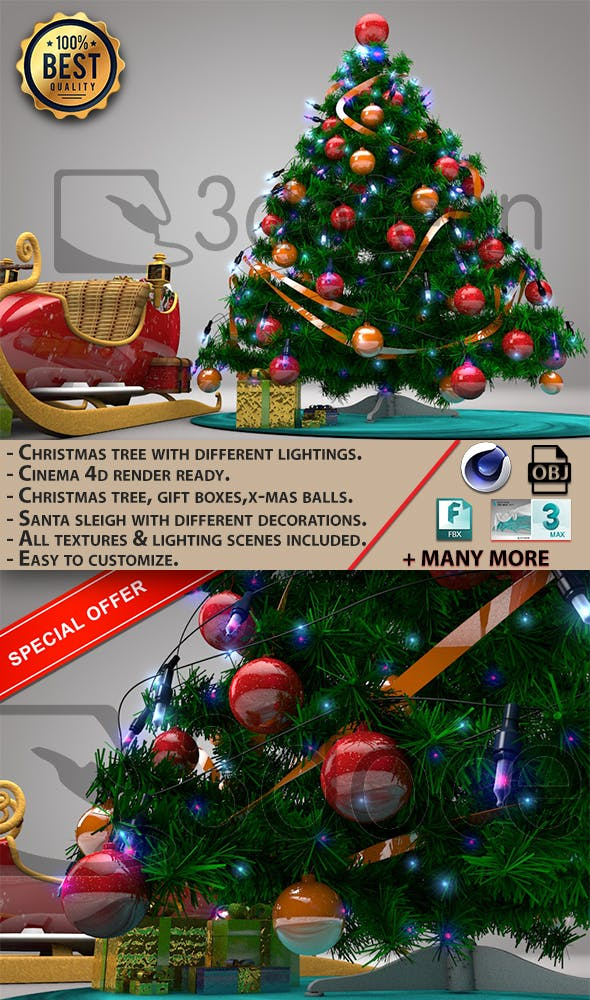 Christmas Tree. - 3DOcean Item for Sale