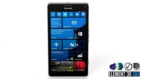 Microsoft Lumia 950XL - Element 3D - 3DOcean Item for Sale