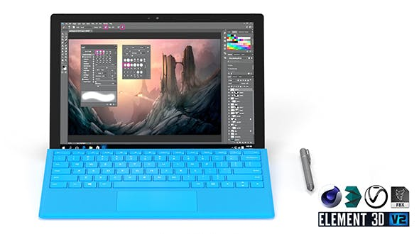 Microsoft Surface Pro - Element 3D - 3DOcean Item for Sale