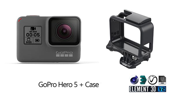 GoPro Hero 5 and Case - 3DOcean Item for Sale