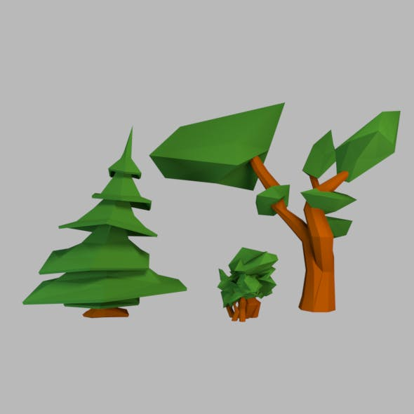 Spruce shrub and tree - 3DOcean Item for Sale