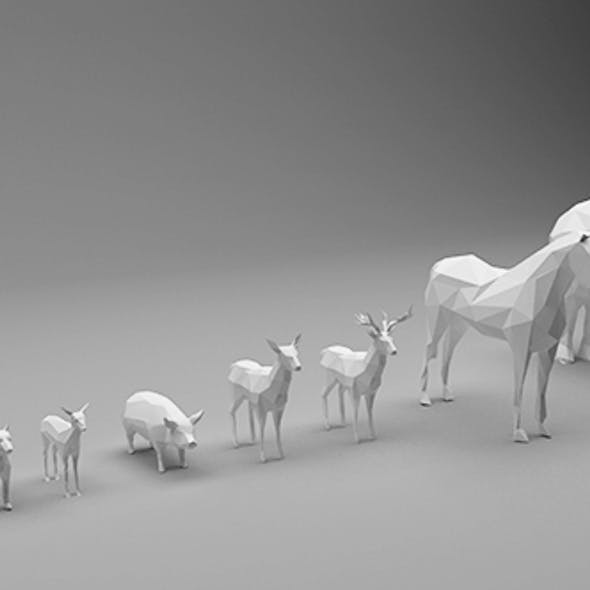Animals Low Poly