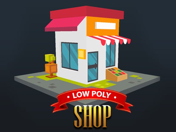Low Poly Shop - 3DOcean Item for Sale