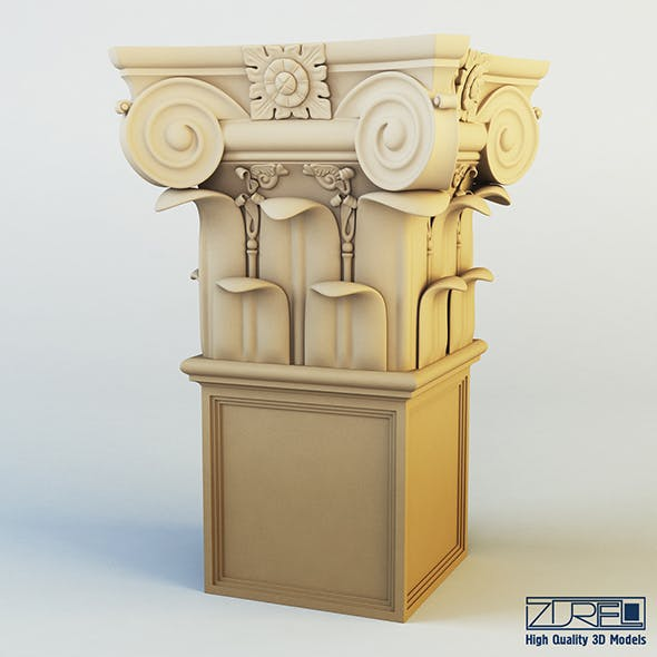 Column capital - 3DOcean Item for Sale