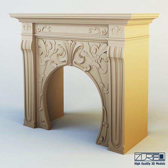 Art Nouveau fireplace - 3DOcean Item for Sale