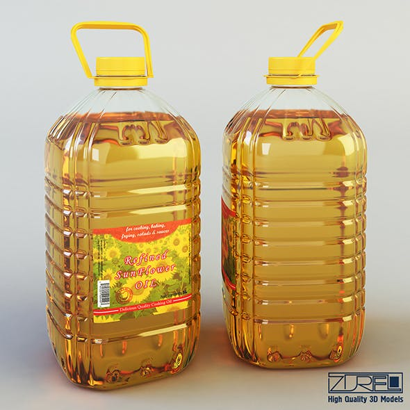 Oil bottle 5 liter - 3DOcean Item for Sale