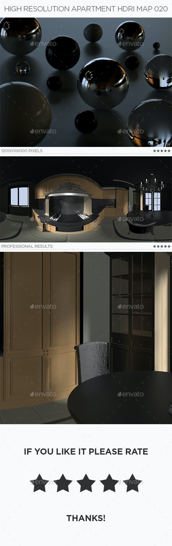 High Resolution Apartment HDRi Map 020 - 3DOcean Item for Sale