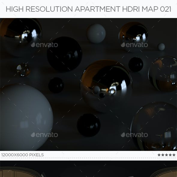 High Resolution Apartment HDRi Map 021