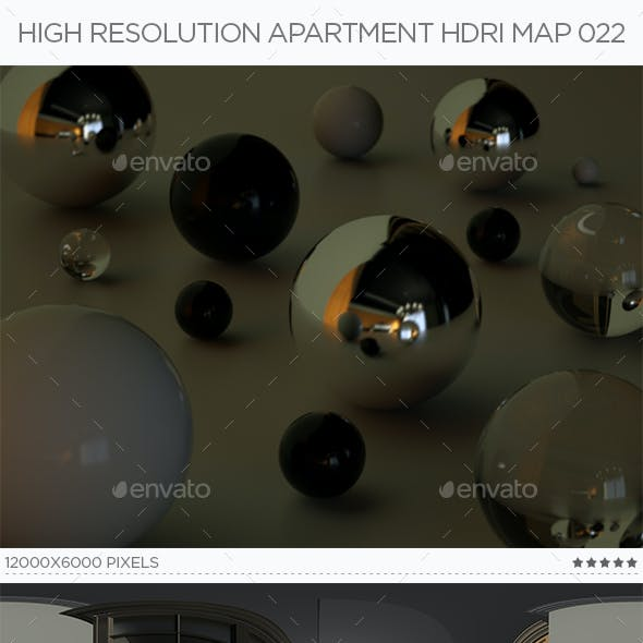 High Resolution Apartment HDRi Map 022