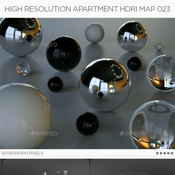 High Resolution Apartment HDRi Map 023