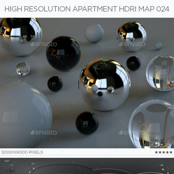 High Resolution Apartment HDRi Map 024