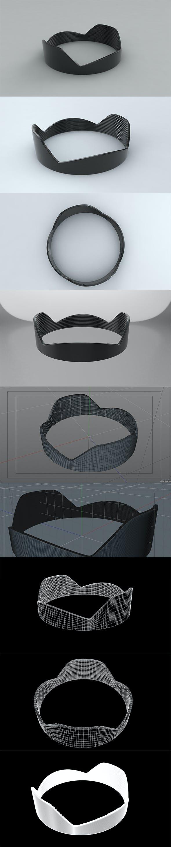 3D Lens Hood C4d - 3DOcean Item for Sale