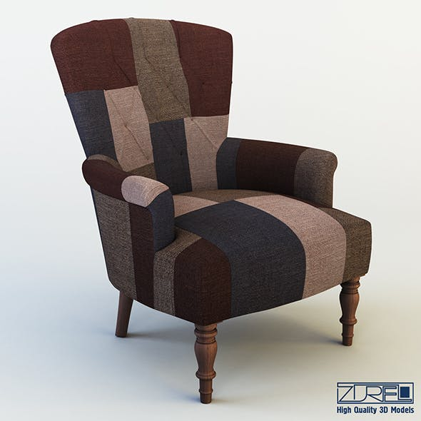 Akey armchair - 3DOcean Item for Sale