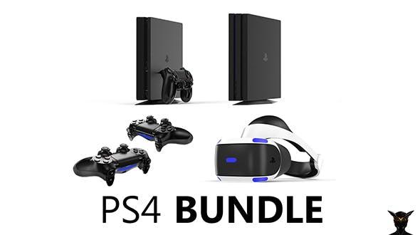Playstation 4 Bundle - 3DOcean Item for Sale