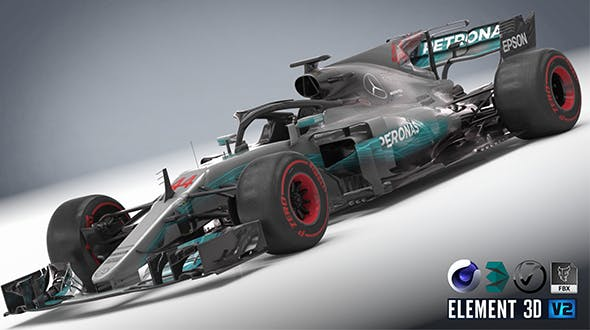 Mercedes W08 with halo - 3DOcean Item for Sale