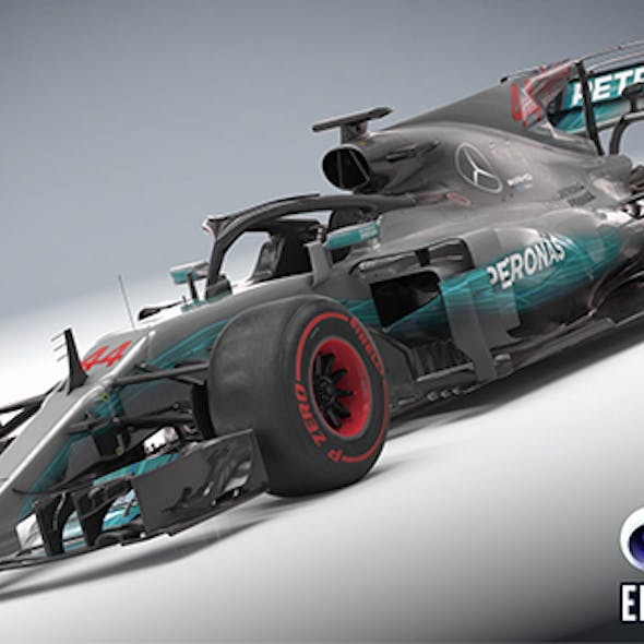 Mercedes W08 with halo