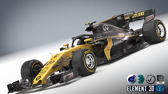 Renault R.S 17 with halo - 3DOcean Item for Sale