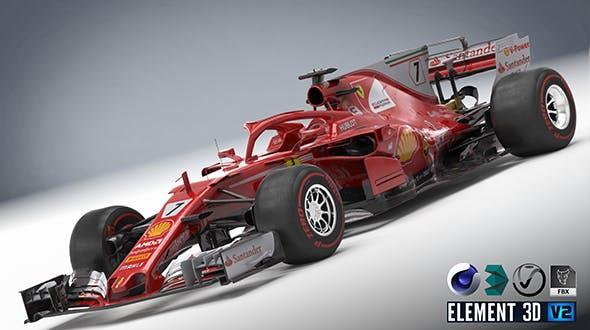Scuderia Ferrari SF-70H with halo - 3DOcean Item for Sale