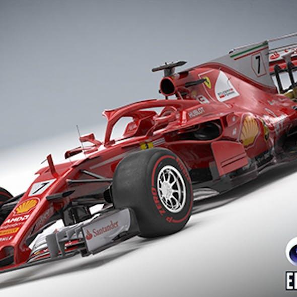 Scuderia Ferrari SF-70H with halo