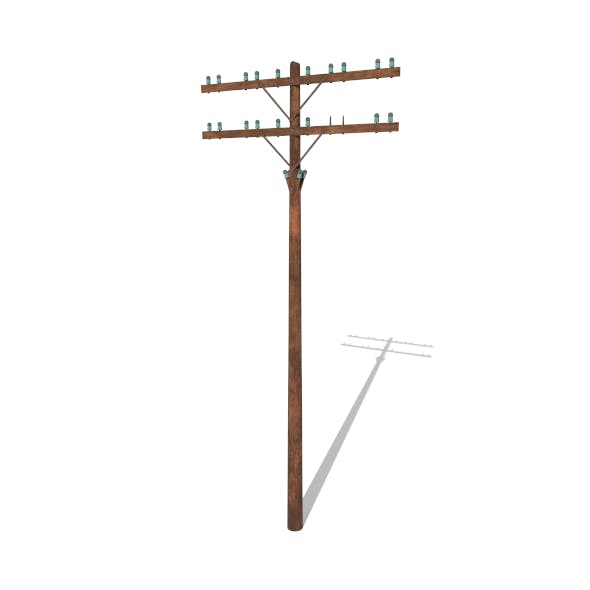Electricity Pole 9 - 3DOcean Item for Sale