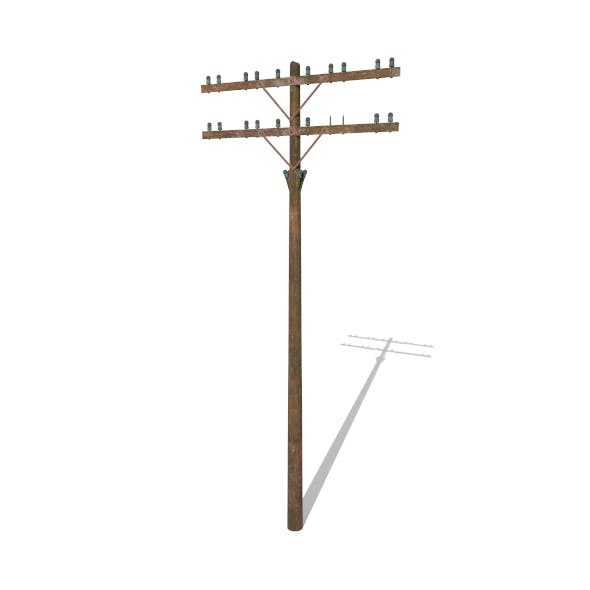 Electricity Pole 9 Weathered - 3DOcean Item for Sale