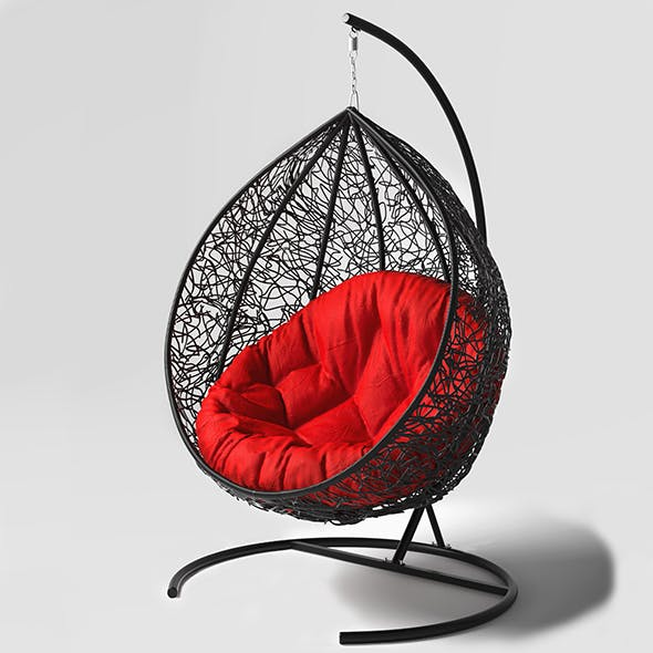 Swing cocoon hanging rotan chair - 3DOcean Item for Sale
