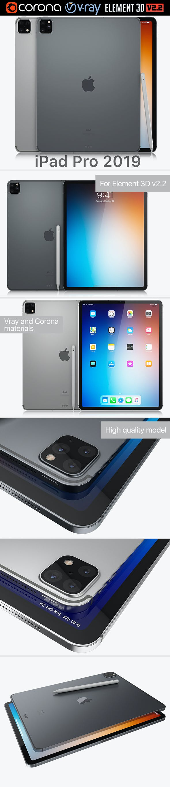 Apple iPad Pro 2019 - 3DOcean Item for Sale
