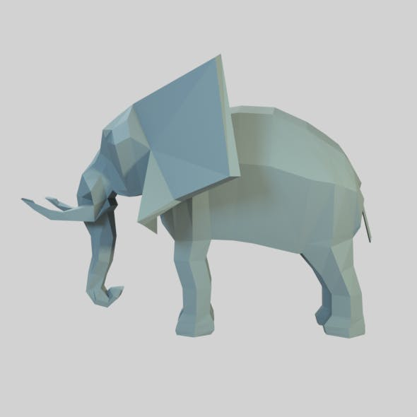 Elephant low poly - 3DOcean Item for Sale