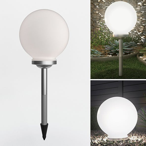 Solar Garden Light - 3DOcean Item for Sale