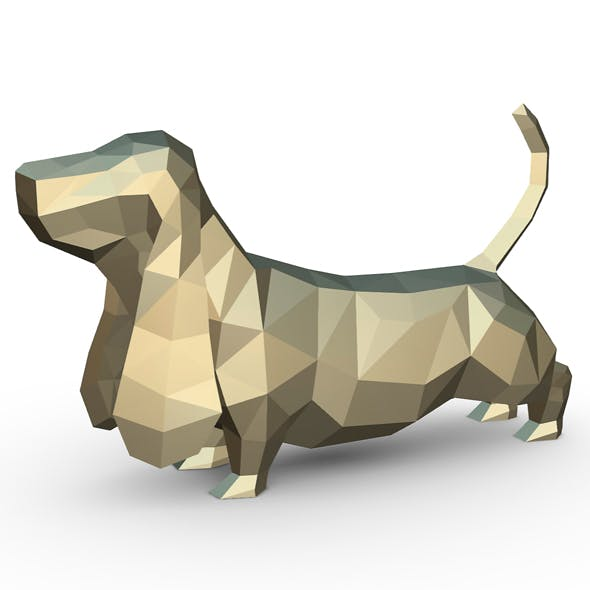 Basset hound figure - 3DOcean Item for Sale