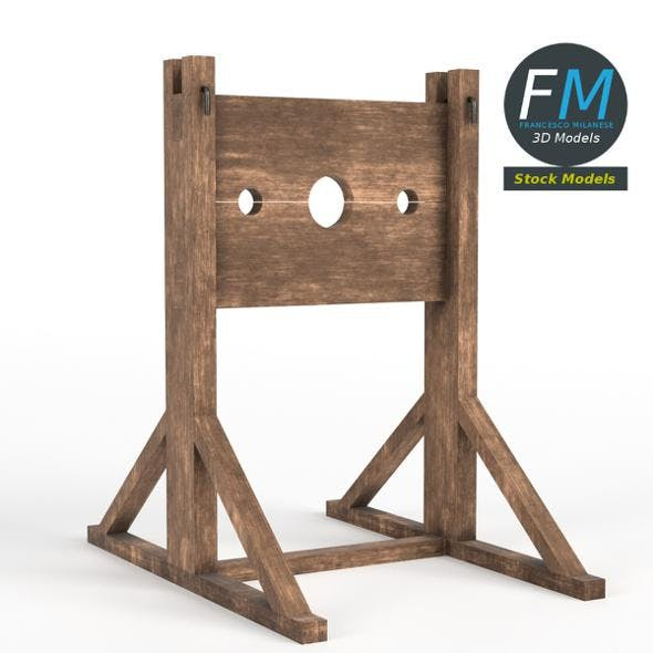 Medieval pillory - 3DOcean Item for Sale