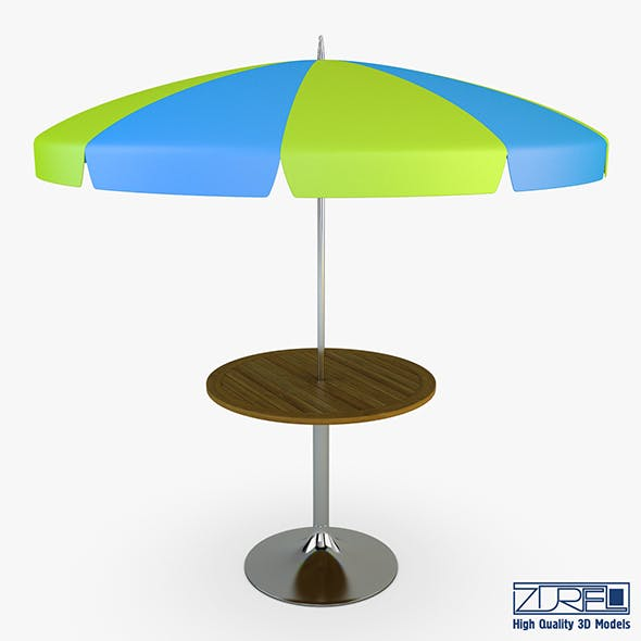 Patio table with umbrella v 1 - 3DOcean Item for Sale