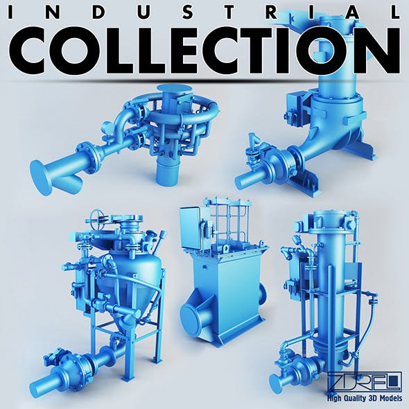 Industrial pumps collection Full - 3DOcean Item for Sale