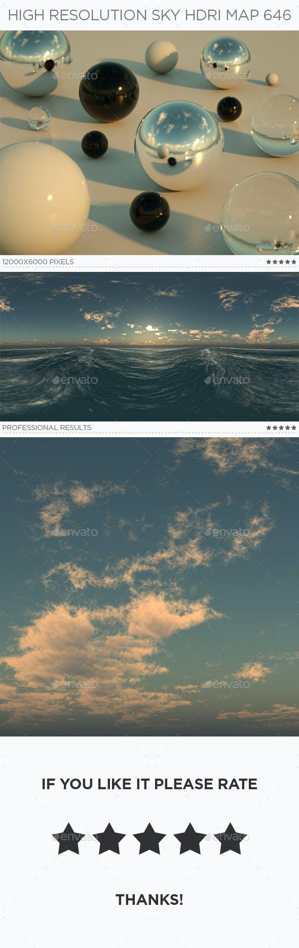 High Resolution Sky HDRi Map 646 - 3DOcean Item for Sale