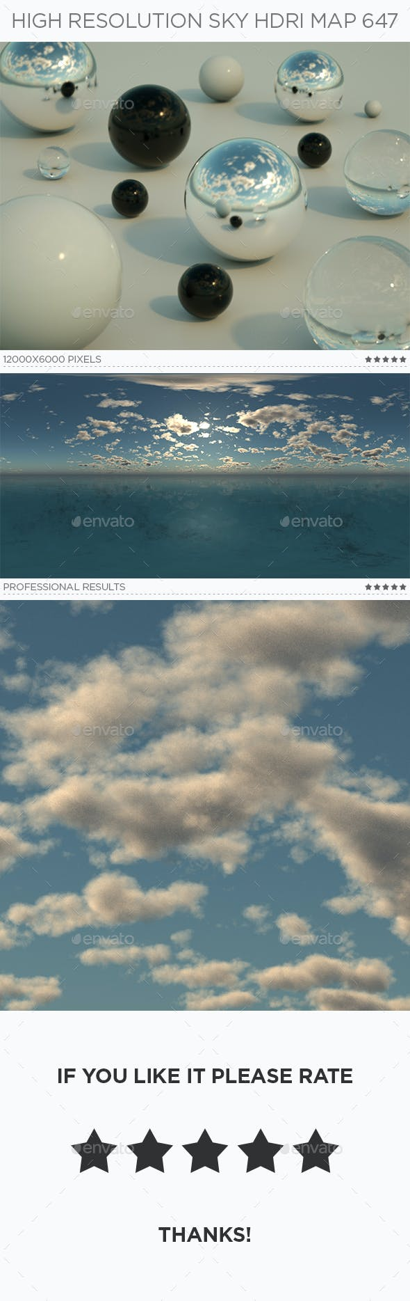 High Resolution Sky HDRi Map 647 - 3DOcean Item for Sale